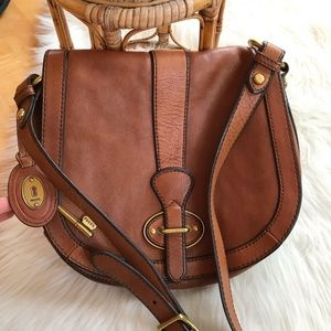Fossil leather crossbody bag LIKE NEW